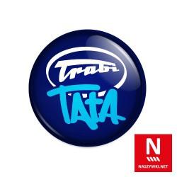 Wpinka Trabi Tata, granatowe tło, biało-niebieski wzór