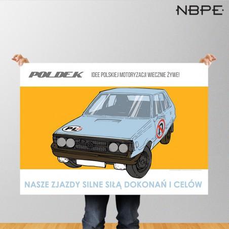 """Plakat Polonez """"Nasze zjazdy silne siłą dokonań i celów"""""""