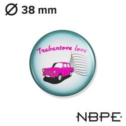 Wpinka Złombol - Trabantowe love (różowo-błękitna)