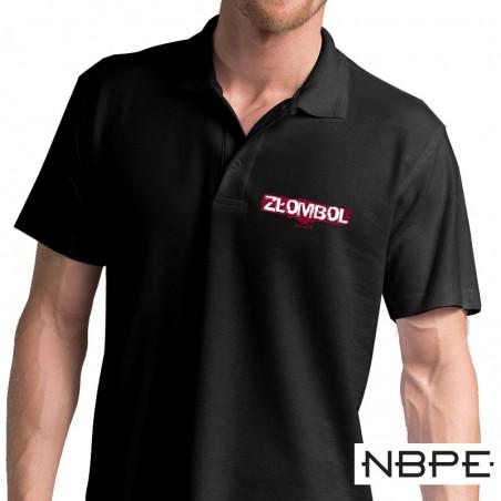 Koszulka polo czarna, męska ZŁOMBOL