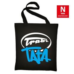 Torba bawełniana czarna z napisem Trabi Tata