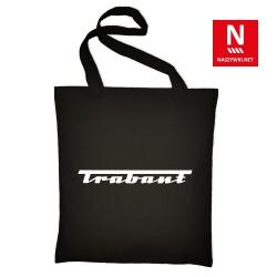 Torba bawełniana czarna z marką Trabant (nadruk folią flex)