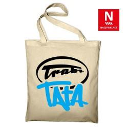 Torba bawełniana z napisem Trabi Tata (nadruk folią flex)