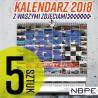 Kalendarz 2018 złombol paczka 5 sztuk