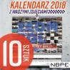 Kalendarz 2018 złombol paczka 10 sztuk