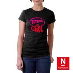 Koszulka damska ze stylizowanym napisem Trabi Girl