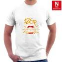 Koszulka męska z wzorem Fiat 126p - popularnym maluchem