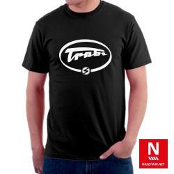 Koszulka męska ze stylizowanym napisem Trabi