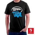 Koszulka męska ze stylizowanym napisem Trabi Tata