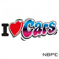 naklejka I love Cars